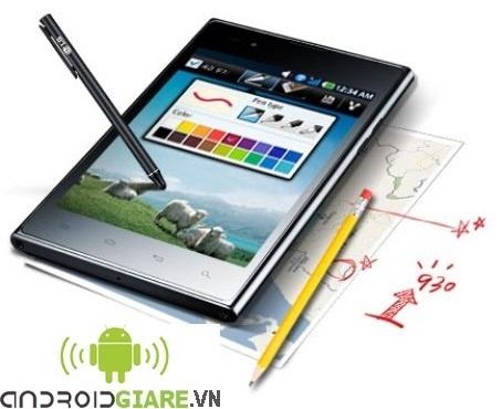 LG F100 hỗ trợ viết cảm ứng với màn hình 5 inch