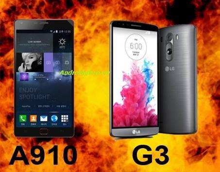 LG G3 va SKY A910