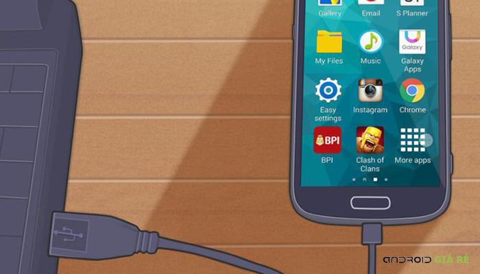 Cách kết nối Samsung Galaxy S4 với máy tính