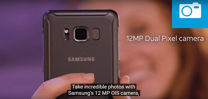 Camera Samsung Galaxy S8 Active sử dụng công nghệ Dual Pixel